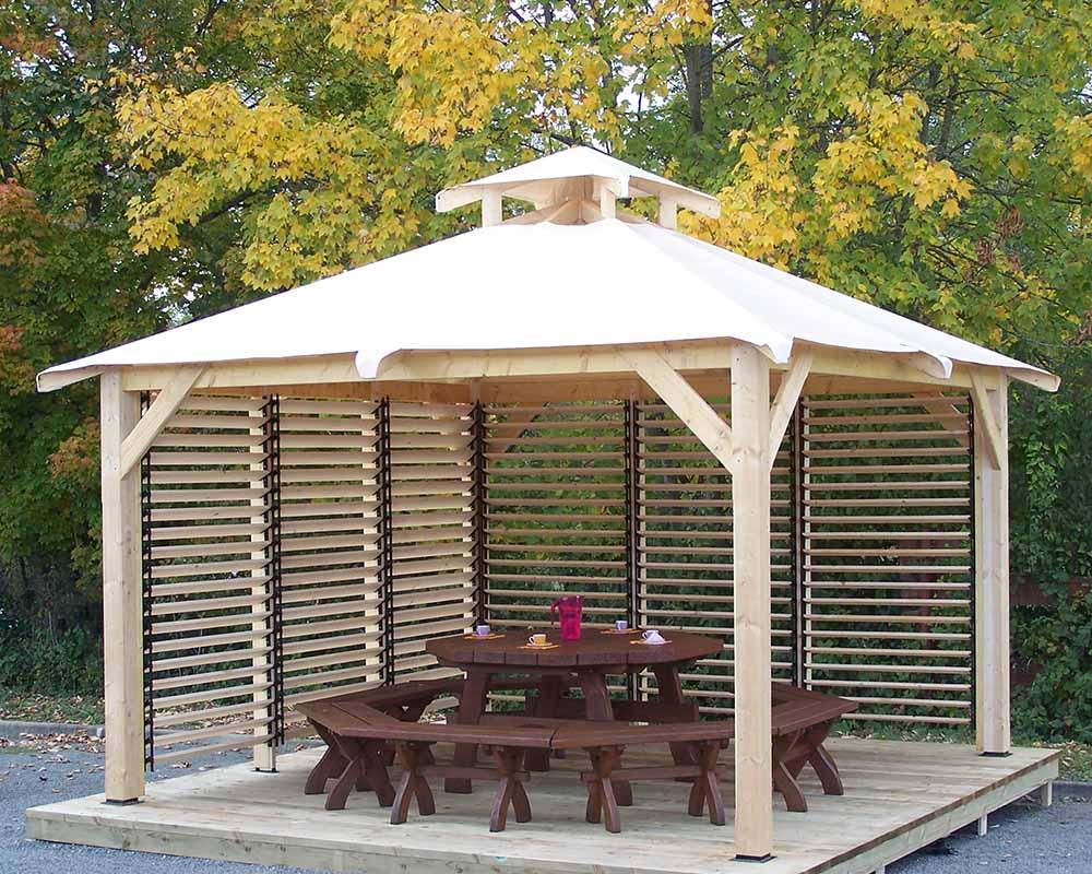 Kiosque En Bois Hexagonal kiosques, pergolas, tonnelles - foresta - une réponse très