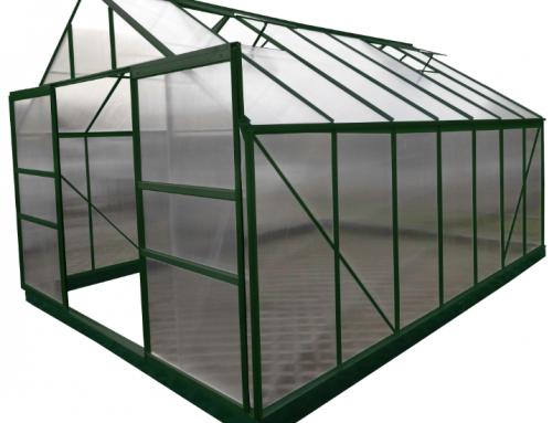 Serre jardin structure aluminium couleur verte SR 4330.
