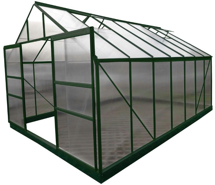 Serre jardin structure aluminium couleur verte SR 4330. - Foresta ...