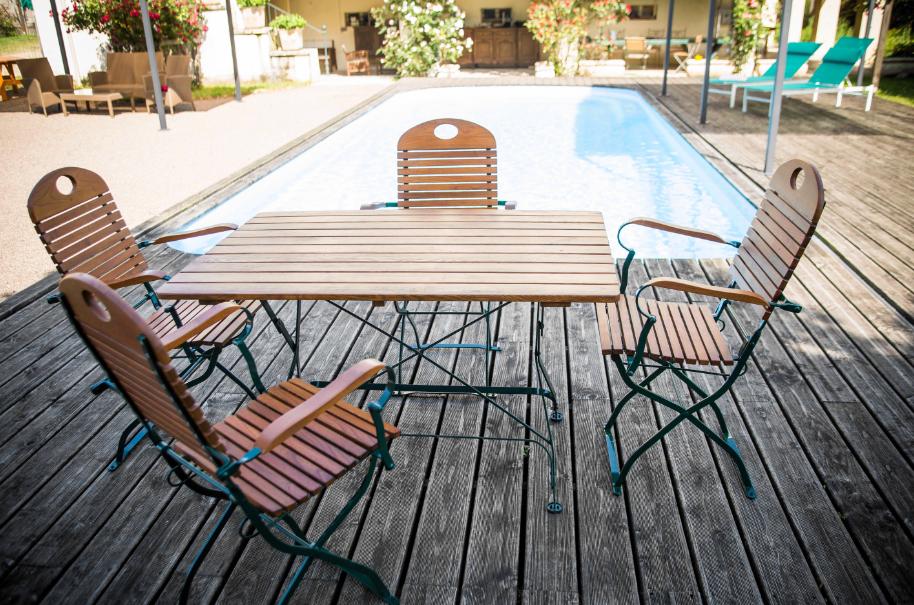 Composition mobilier de jardin FLORA Table + 4 fauteuils ...