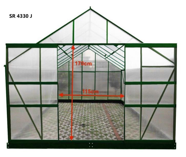 serre jardin structure aluminium