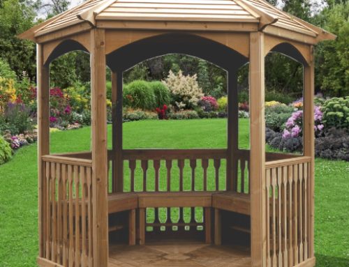 Pavillon hexagonal élégant toiture bois – KI A28.01.