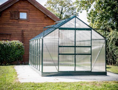 Serre jardin structure aluminium couleur verte SR 4224J.