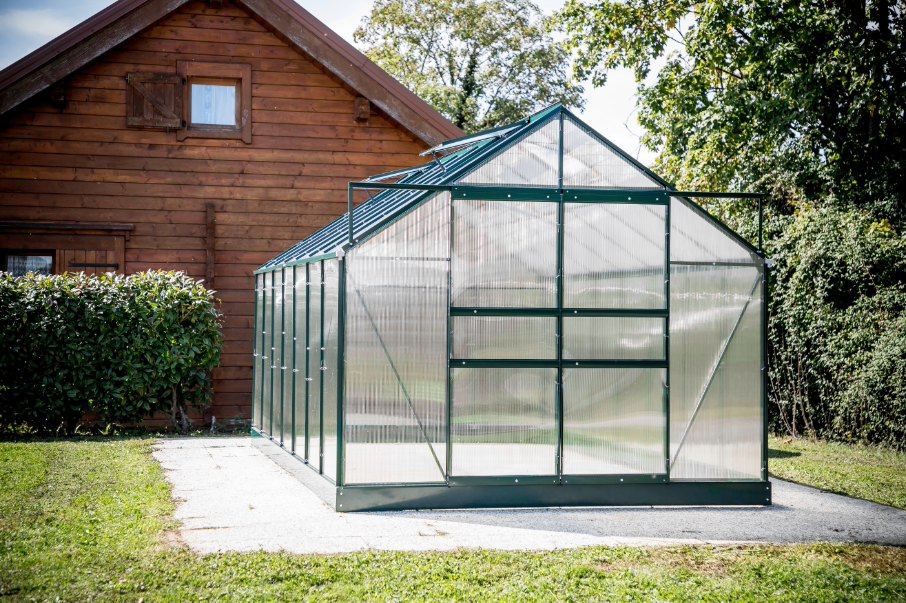 Serre jardin structure aluminium couleur verte SR 4224J. - Foresta ...