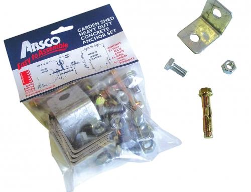 KIT fixation au sol pour abri et garage ABSCO – Réf. AB3030-FIX