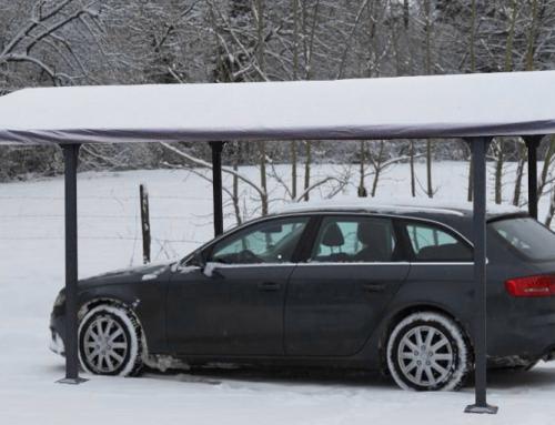 Bâche pour Carport ALUMINIUM toit 1/2 rond – CAR B 3048.
